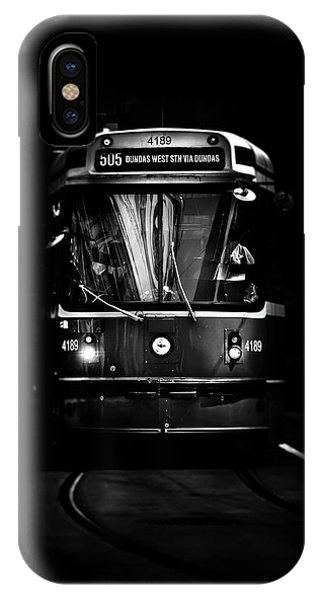 IPhone Case featuring the photograph The 505 Dundas Streetcar Toronto Canada by Brian Carson