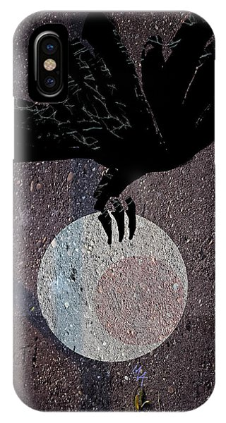 IPhone Case featuring the digital art The Abduction Of The Moon by Attila Meszlenyi