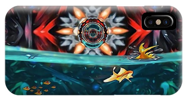 The Abstract Fish Tomb IPhone Case