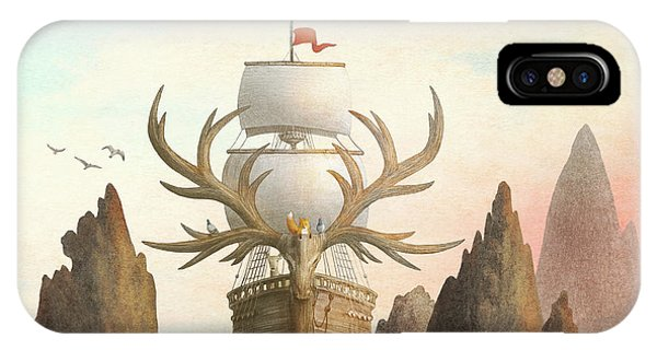 Ship iPhone Case - The Antlered Ship by Eric Fan