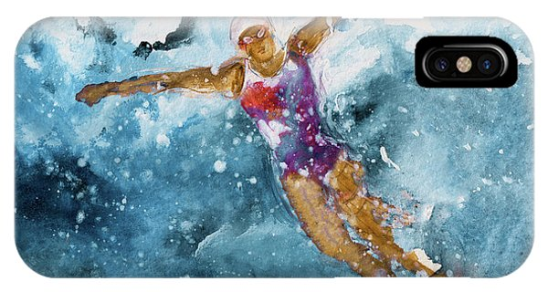 iPhone Case - The Art Of Butterfly Swimming 01 by Miki De Goodaboom