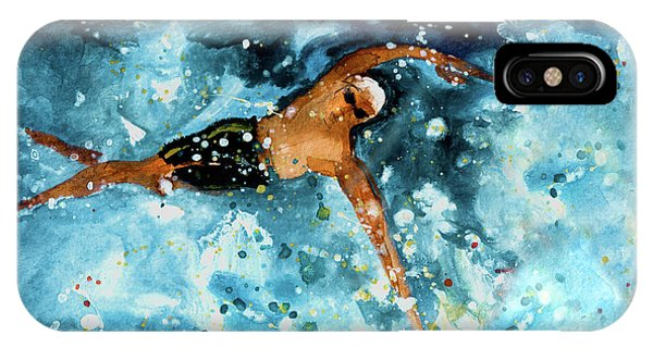 iPhone Case - The Art Of Free Style Swimming 02 by Miki De Goodaboom