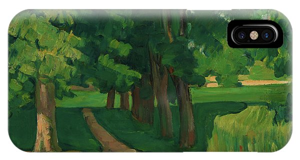 Avenue iPhone Case - The Avenue At The Jas De Bouffan - Digital Remastered Edition by Paul Cezanne