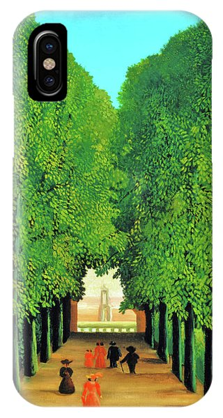 Avenue iPhone Case - The Avenue In The Park At Saint Cloud - Digital Remastered Edition by Henri Rousseau