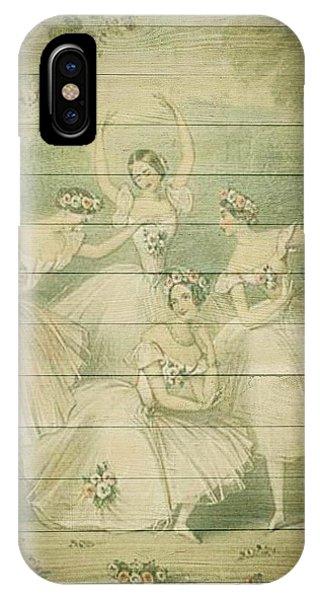 The Ballet Dancers Shabby Chic Vintage Style Portrait IPhone Case