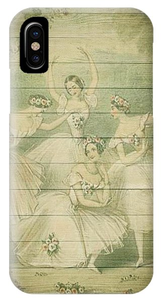 The Ballet Dancers Shabby Chic Vintage Style Portrait IPhone Case