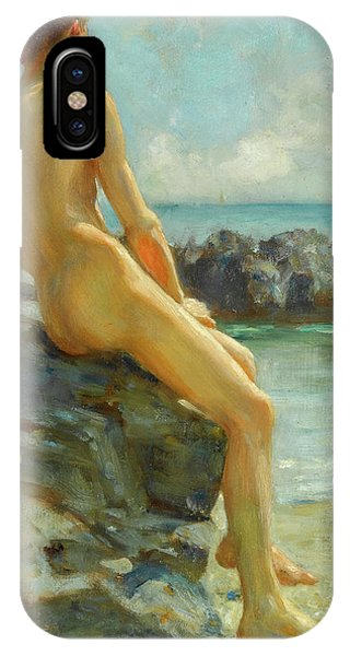 Lgbt iPhone Case - The Bather, 1924 by Henry Scott Tuke