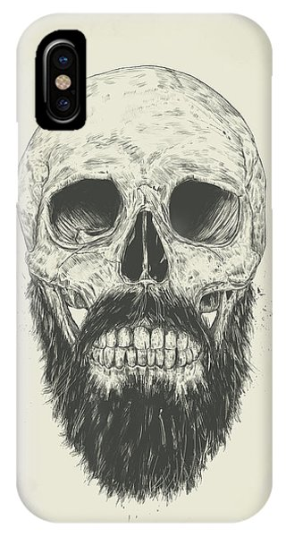 Skull iPhone Case - The Beard Is Not Dead by Balazs Solti
