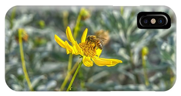 The Bee The Flower IPhone Case