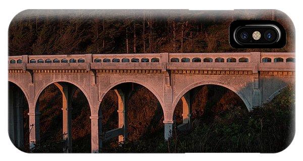 Grenn iPhone Case - The Ben Jones Bridge Illuminated By Sunlight During Sunset, Oregon, Usa by Esteban Martinena Guerrero