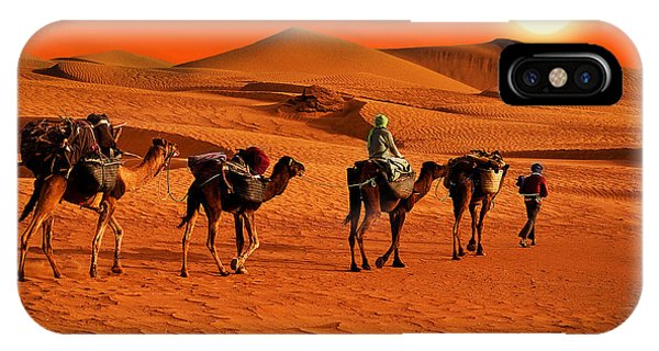 Ethnic iPhone Case - The Berbesky Tribe Passes The Desert In by Seqoya