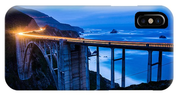 Monterey iPhone Case - The Bixby Creek Bridge At Night, In Big by Jon Bilous