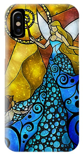 Fairy iPhone Case - The Blue Fairy by Mandie Manzano