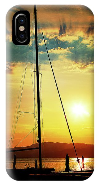 IPhone Case featuring the photograph the Boat and the Sky by Milena Ilieva