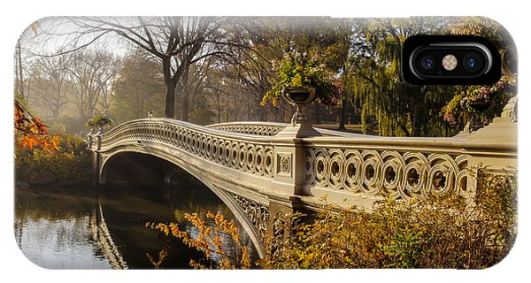 Panel iPhone Case - The Bow Bridge  Is A Cast Iron Bridge by John A. Anderson