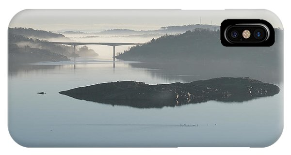 IPhone Case featuring the pyrography The Bridge by Magnus Haellquist