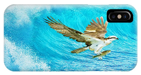 Ospreys iPhone Case - The Catch by Laura D Young