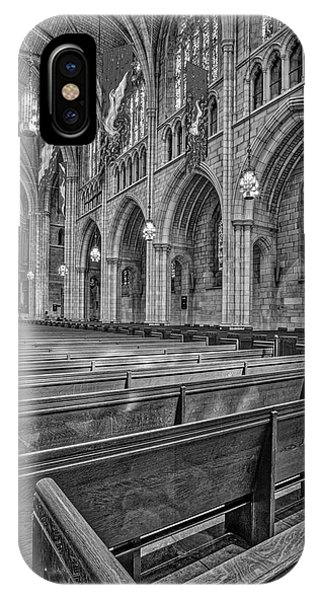 iPhone Case - The Chapel At Princeton University Bw by Susan Candelario