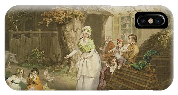 Barnyard iPhone Case - The Citizens Retreat, 1796 by James Ward