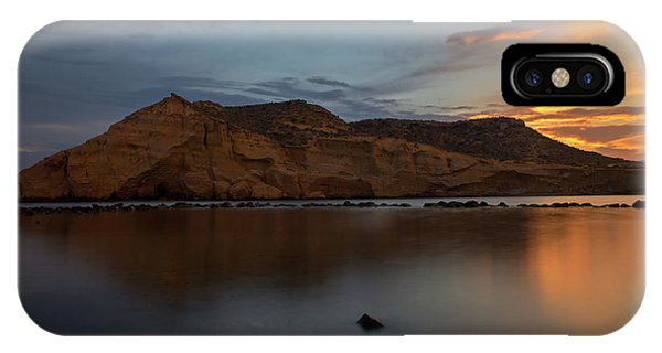 The Closed Cove In Aguilas At Sunset, Murcia IPhone Case