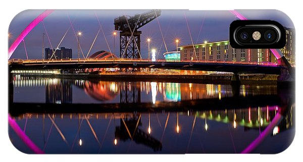 IPhone Case featuring the photograph The Clyde Arc Reflected by Stephen Taylor