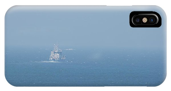 IPhone Case featuring the pyrography The Coast Guard by Magnus Haellquist
