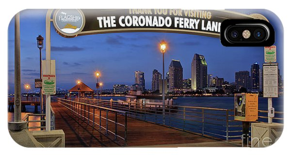 The Coronado Ferry Landing IPhone Case