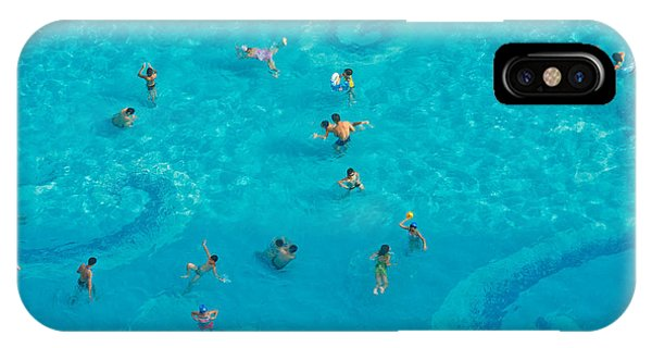 Hotel iPhone Case - The Crowd In The Pool by Oceanfishing