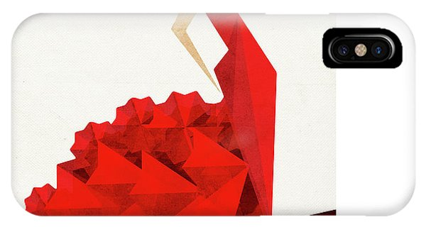 Red iPhone Case - The Dancer Flamenco by Vess DSign