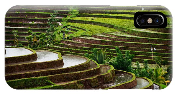 Farmland iPhone Case - The Dramatic And Graphic Rice Terraces by Edmund Lowe Photography
