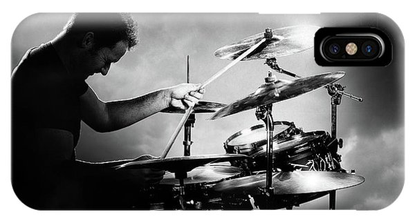 Roll iPhone Case - The Drummer by Johan Swanepoel