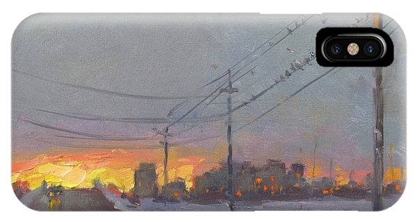 Gray iPhone Case - The End Of A Gray Day by Ylli Haruni