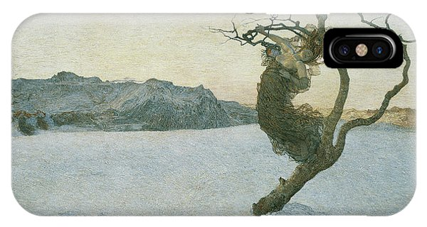 Barren iPhone Case - The Evil Mothers, 1894 by Giovanni Segantini