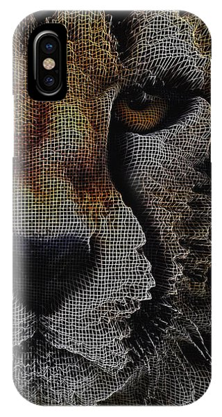 IPhone Case featuring the digital art The Face Of A Cheetah by ISAW Company