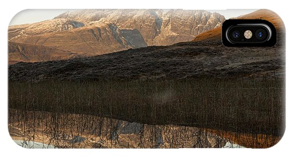IPhone Case featuring the photograph The First Hint Of Winter At Loch Cill Chriosd by Stephen Taylor
