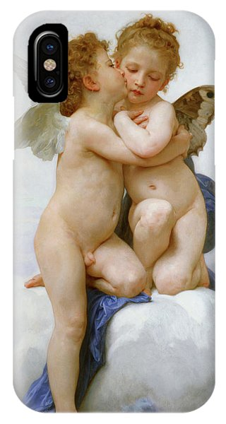 Lgbt iPhone Case -  The First Kiss, 1890 by William-Adolphe Bouguereau