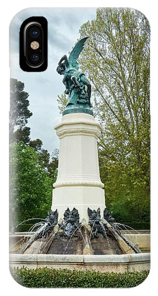 The Fountain Of The Fallen Angel In Madrid IPhone Case