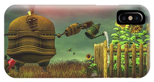 Sunflower iPhone Case - The Gardener by Bob Orsillo