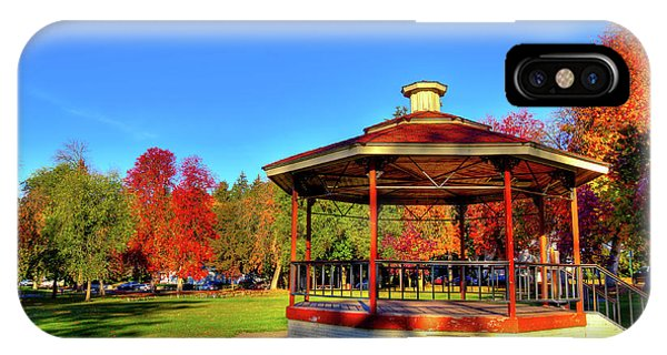 IPhone Case featuring the photograph The Gazebo At Reaney Park by David Patterson