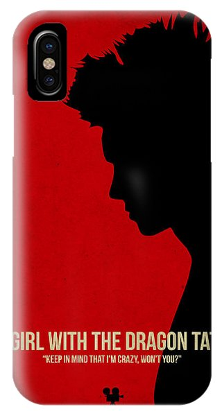 Hit iPhone Case - The Girl With A Dragon Tattoo by Naxart Studio