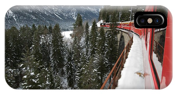 Train iPhone Case - The Glacier Express by Rudy Mareel