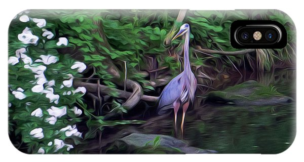 The Great Blue Heron - Impressionism IPhone Case