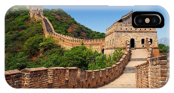 Asia iPhone Case - The Great Wall Of China by Izmael