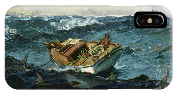 Accident iPhone Case - The Gulf Stream - Digital Remastered Edition by Winslow Homer