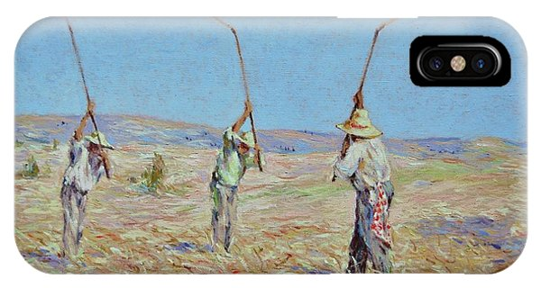 The Haymakers - Pierre Van Dijk 70x90cm Oil IPhone Case