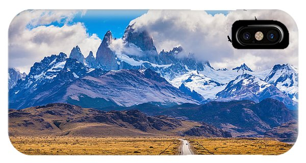 Argentina iPhone X Case - The Highway Crosses The Patagonia And by Kavram