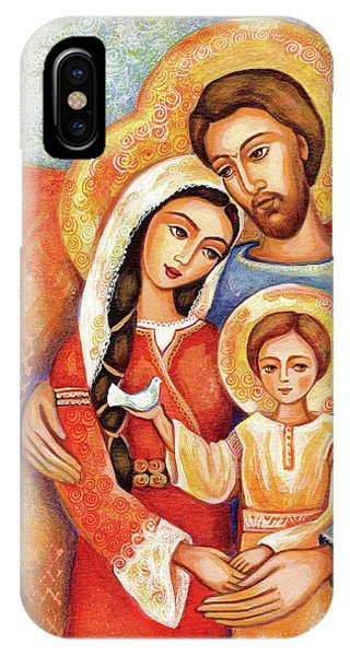 IPhone Case featuring the painting The Holy Family by Eva Campbell