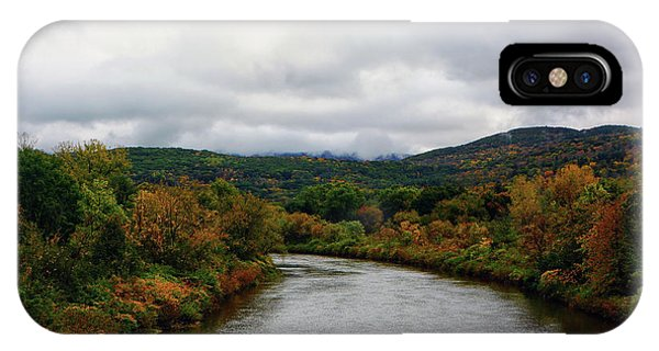IPhone Case featuring the photograph The Housatonic River From A Bridge In Adams Ma by Raymond Salani III