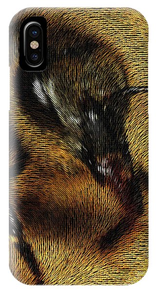 IPhone Case featuring the digital art The Killer Bee by ISAW Company