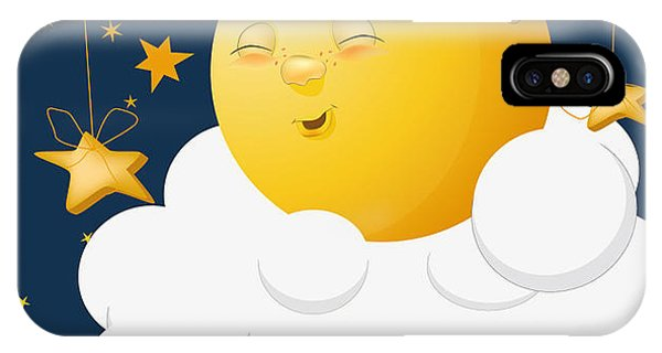 Fairy Tales iPhone Case - The Kind Moon On A Cloud by Liusa